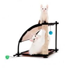 KITTY CITY «Белая Гора» Игровой комплекс с когтеточкой для кошек 44Х45Х45