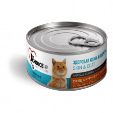 1ST CHOICE ТУНЕЦ С КУРИЦЕЙ И ПАПАЙЕЙ консервы для кошек 85г