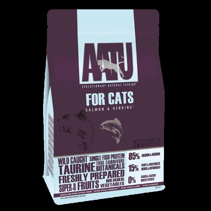 Фото - AATU CAT SALMON & HERRING беззерновой с лососем и сельдью для взрослых кошек