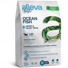 Сухой корм для взрослых кошек ALLEVA HOLISTIC ADULT беззерновой с океанической рыбой 38/18