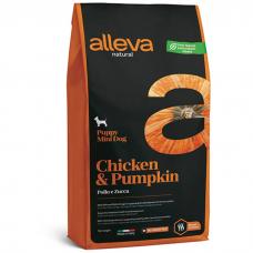 Сухой корм для щенков мелких пород ALLEVA NATURAL низкозерновой с курицей и тыквой 30/22