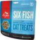 ORIJEN FD SIX FISH Сублимированное лакомство из 6 видов рыб для кошек 35г