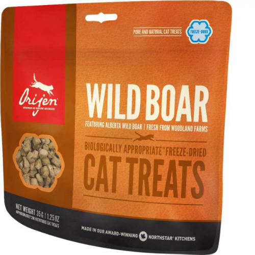 ORIJEN WILD BOAR Сублимированное лакомство из дикого кабана для кошек 35г
