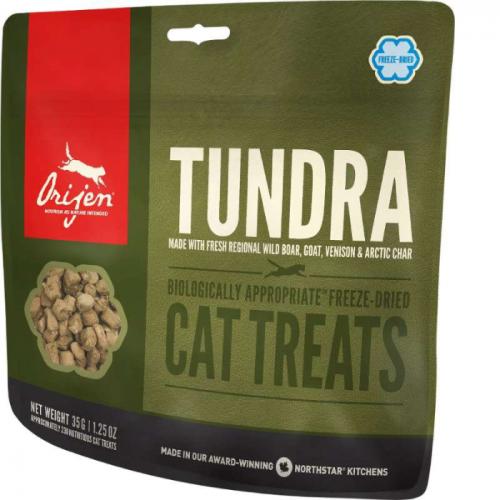 ORIJEN TUNDRA Сублимированное лакомство из 4 видов дичи для кошек 35г