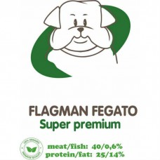 АКАРИ КИАР FLAGMAN FEGATO с печенью и рисом сухой корм для взрослых собак
