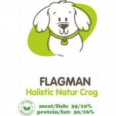 АКАРИ КИАР FLAGMAN HOLISTIC NATUR CROQ со свежей говядинойи тыквойсухой корм для взрослых собак
