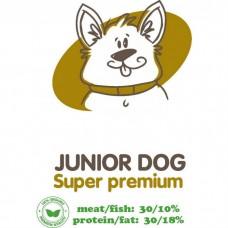 АКАРИ КИАР JUNIOR DOG с говядиной и субпродуктами для щенков от 4 месяцев