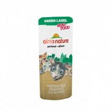 ALMO NATURE  GREEN LABEL MINI FOOD CHICKEN FILLET Лакомство для кошек с куриным филе 99% мяса