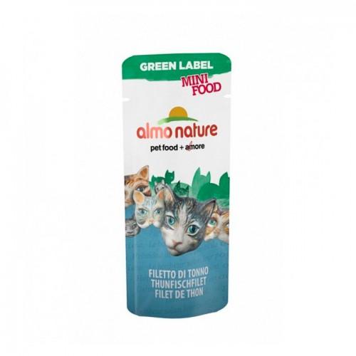 ALMO NATURE GREEN LABEL MINI FOOD TUNA FILLET Лакомство для кошек с филе Тунца 99% мяса