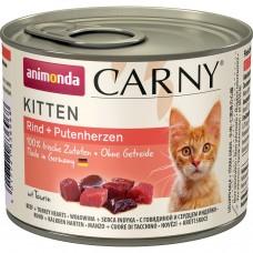 ANIMONDA CARNY KITTEN с говядиной и сердцем индейки консервы для котят 200г