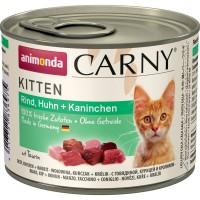 ANIMONDA CARNY KITTEN с курицей и кроликом консервы для котят 200г