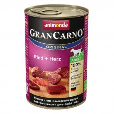 ANIMONDA GRAN СARNO ГОВЯДИНА С СЕРДЦЕМ беззерновые консервы для собак 400г