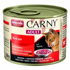 ANIMONDA CARNY ADULT с отборной говядиной консервы для взрослых кошек