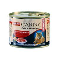 ANIMONDA CARNY SENIOR с говядиной и сердцем индейки консервы для пожилых кошек 200 г