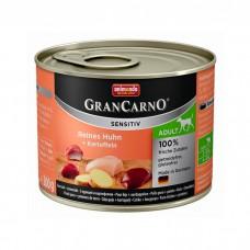 ANIMONDA GRAN CARNO SENSITIV c курицей и картофелем для собак 200 г