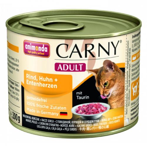 ANIMONDA CARNY ADULT с курицей и уткой консервы для взрослых кошек