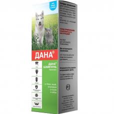 ДАНА шампунь от блох, вшей и власоедов  для кошек и собак 150мл