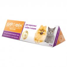 ДИРОФЕН ПАСТА 60 антигельминтный препарат для кошек и собак 10мл