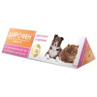 ДИРОФЕН ПАСТА 20 антигельминтный препарат для котят и щенков 10мл
