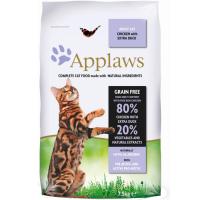 Сухой корм для взрослых кошек APPLAWS беззерновой с уткой и курицей 38/20
