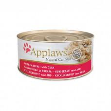 APPLAWS CHICKEN&DUCK с курицей и уткой консервы для кошек