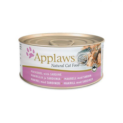 APPLAWS MACKEREL&SARDINE со скумбрией и сардинками консервы для кошек