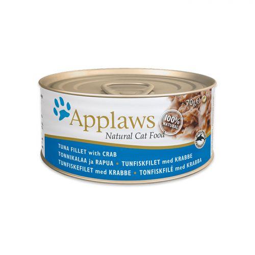 APPLAWS TUNA&CRAB с тунцом и крабовым мясом консервы для кошек 70г
