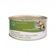 APPLAWS JELLY TUNA&SEAWEED кусочки в желе с тунцом и морской капустой консервы для кошек 70г