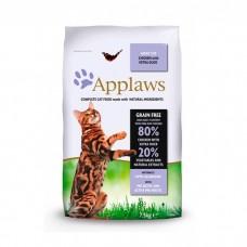 APPLAWS беззерновой с курицей, уткой и овощами для взрослых кошек 80/20