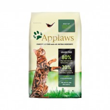 APPLAWS беззерновой с курицей и ягненком для взрослых кошек 80/20
