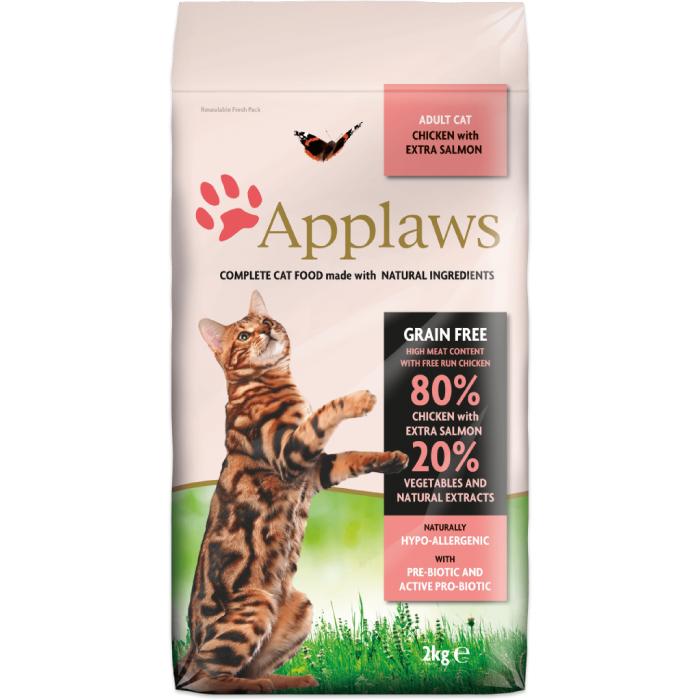 APPLAWS беззерновой с лососем и курицей для взрослых кошек