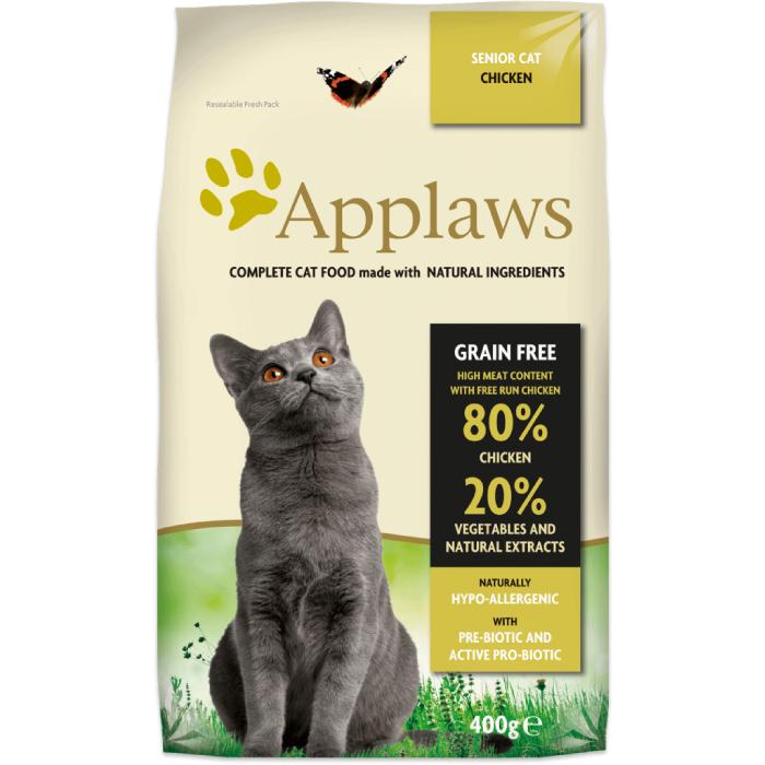 Фото - APPLAWS беззерновой с курицей и овощами для пожилых кошек