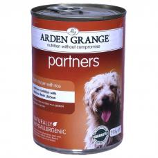 ARDEN GRANGE PARTNERS с курицей и рисом консервы для собак 395г