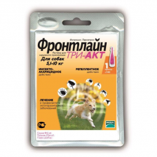 ФРОНТЛАЙН ТРИ-АКТ от блох, клещей и комаров капли для собак 5.1-10кг