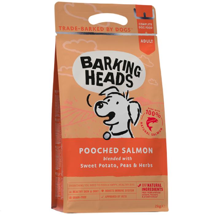 Фото - BARKING HEADS МИСОЧКУ ОБЛИЖЕШЬ беззерновой с лососем и картофелем для взрослых собак