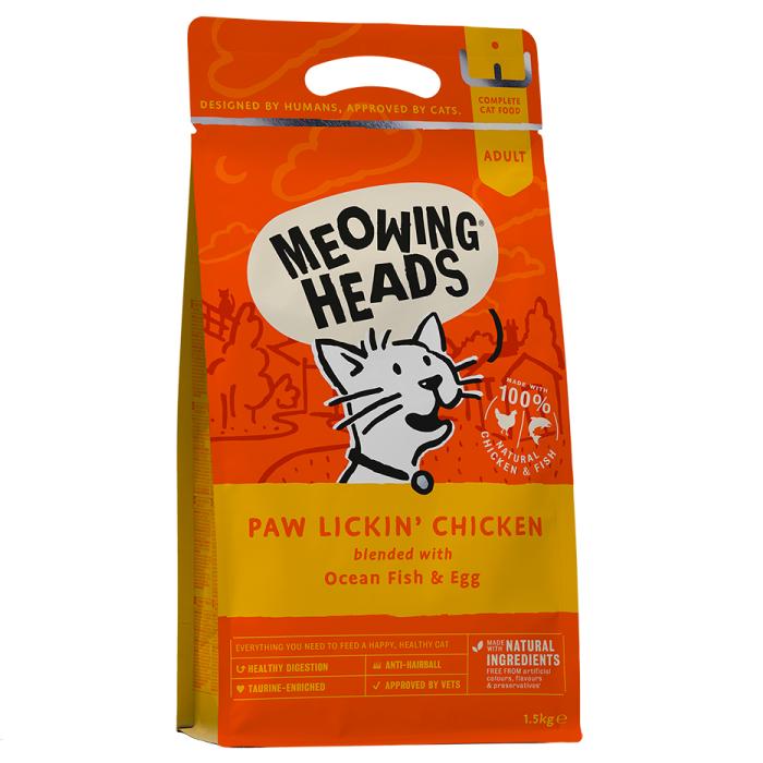 Фото - MEOWING HEADS PAW LICKIN' CHICKEN КУРИНОЕ НАСЛАЖДЕНИЕ с курицей и рисом для взрослых кошек