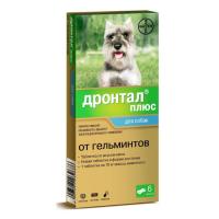 BAYER ДРОНТАЛ ПЛЮС таблетки от гельминтов для собак 1шт