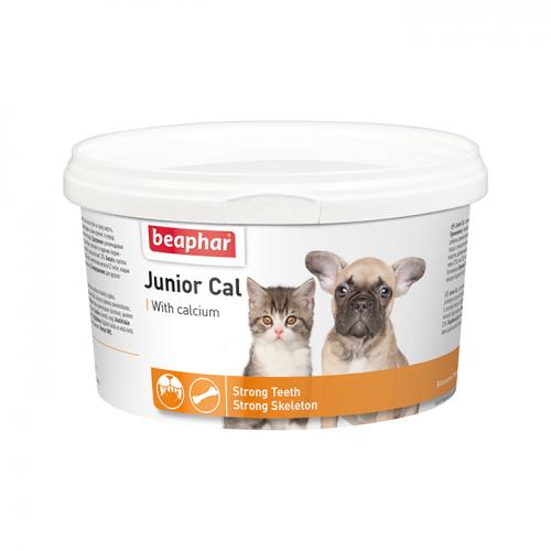 BEAPHAR 10321 JUNIOR CAL кормовая добавка для котят и щенков 200г