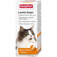 BEAPHAR 12524 LAVETA SUPER витамины для улучшения качества шерсти кошек 50 мл
