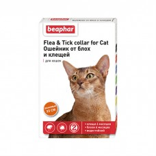 BEAPHAR 10203 ошейник от блох и клещей для кошек оранжевый