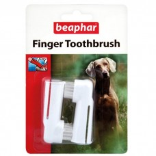BEAPHAR двойная зубная щетка на палец