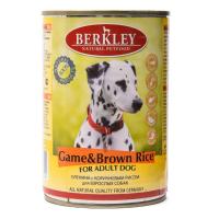 BERKLEY DOG ADULT Консервы с олениной и коричневым рисом для собак 400г