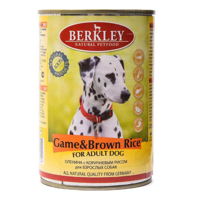 Фото - BERKLEY DOG ADULT Консервы с олениной и коричневым рисом для собак 400г