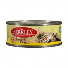 BERKLEY CAT ADULT #7 Консервы с индейкой и сыром для кошек 100 г