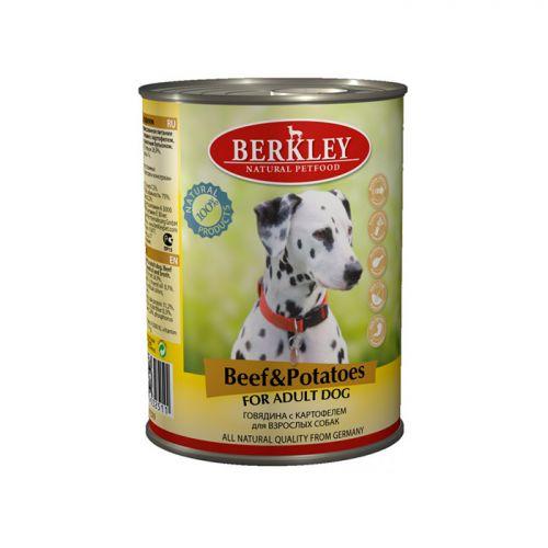 BERKLEY DOG ADULT Консервы с говядиной и картофелем для собак 400г