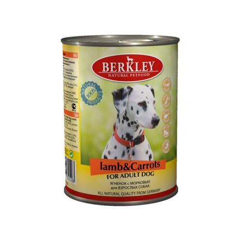 BERKLEY DOG ADULT Консервы с ягненком и морковью для собак 400г