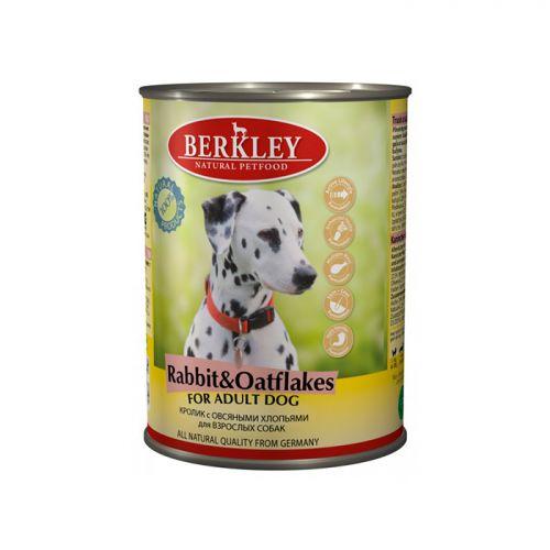 BERKLEY DOG ADULT Консервы с кроликом и овсянкой для собак 400г