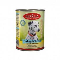 BERKLEY DOG ADULT Консервы  с индейкой и сыром для собак 400г