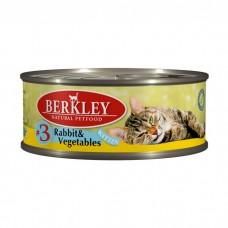 BERKLEY KITTEN #3 Консервы  с кроликом и овощами для котят 100 г