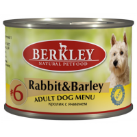 BERKLEY DOG #6 Кролик с Ячменем для собак консервы 200г